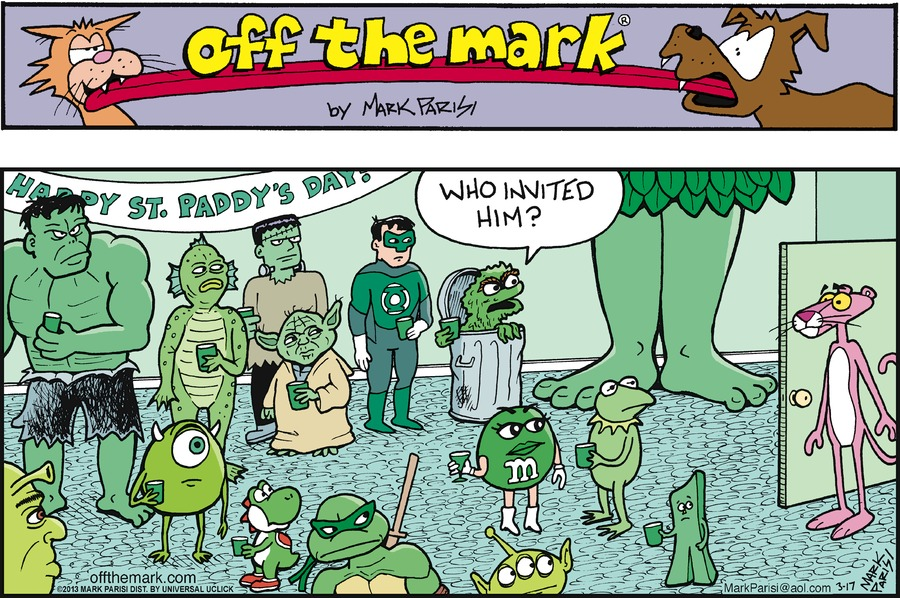 Off the Mark for Mar 17, 2013 Comic Strip