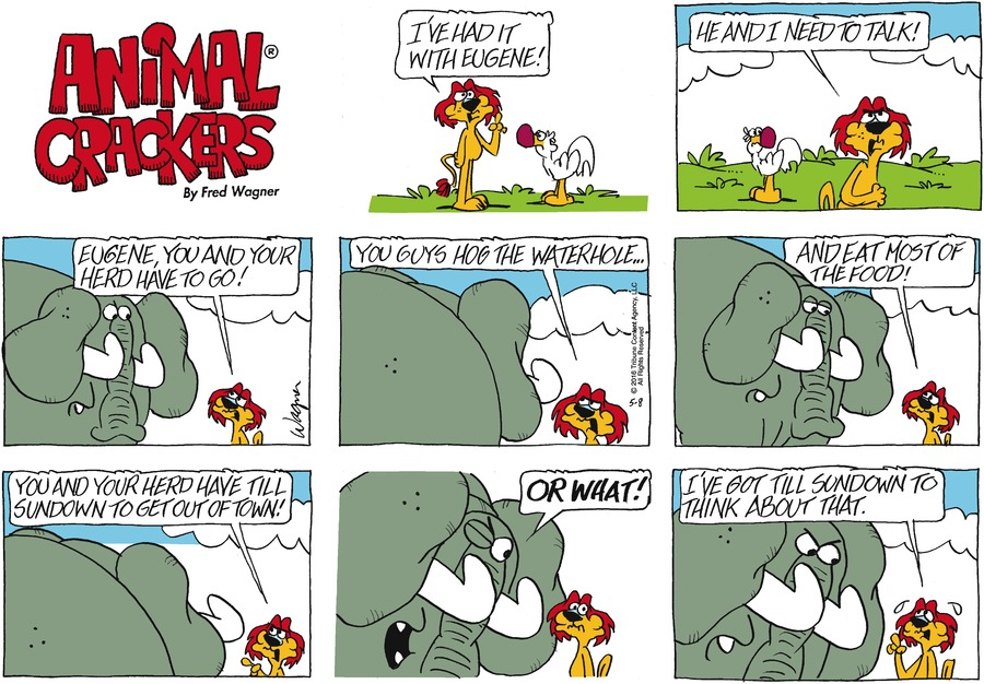 Animal Crackers Comic Strip for May 08, 2016