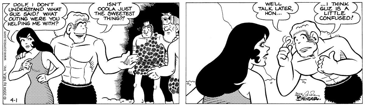 Alley Oop for Apr 1, 2004 Comic Strip