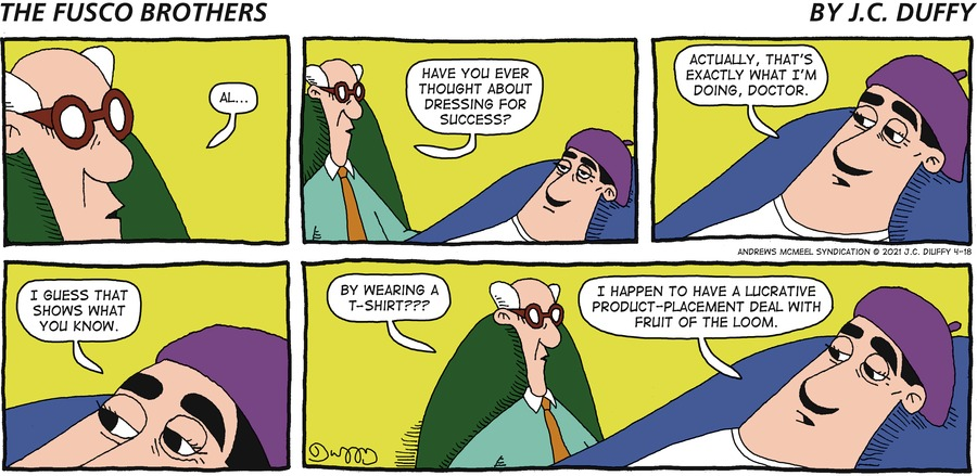 The Fusco Brothers Comic Strip for April 18, 2021