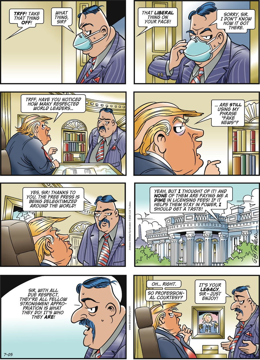 Doonesbury Comic Strip for July 05, 2020