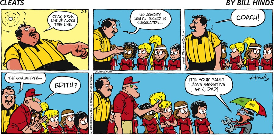 Cleats Comic Strip for June 08, 2003