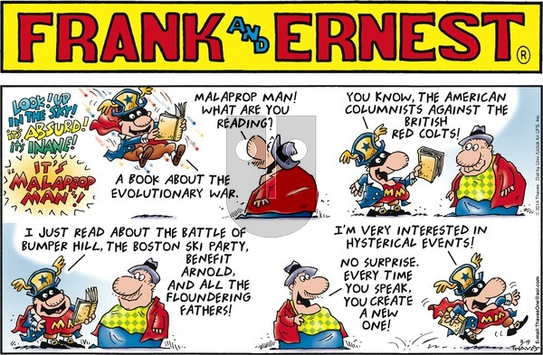 Frank and Ernest on Sunday March 9, 2014 Comic Strip