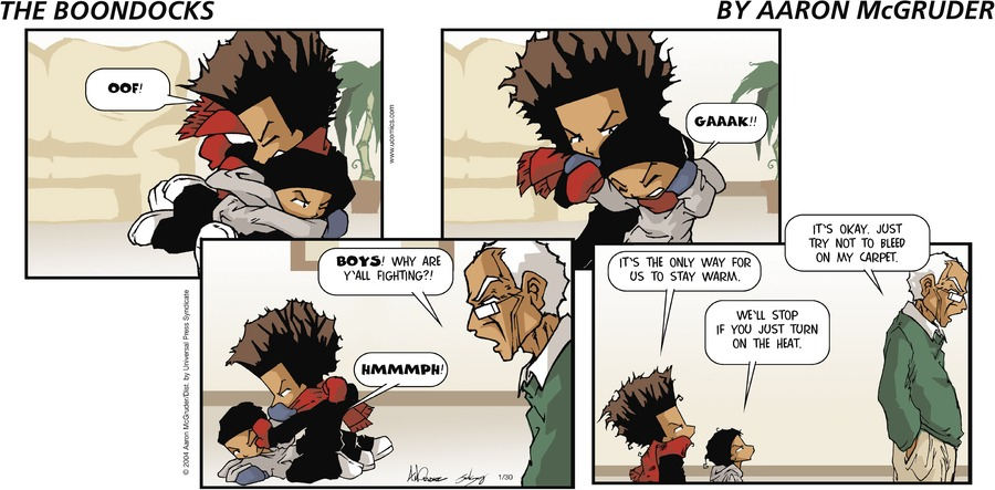 The Boondocks Comic Strip for January 30, 2005