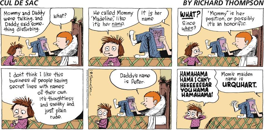Cul de Sac for Mar 15, 2009 Comic Strip