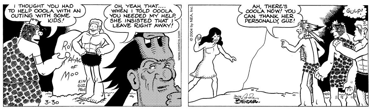 Alley Oop for Mar 30, 2004 Comic Strip