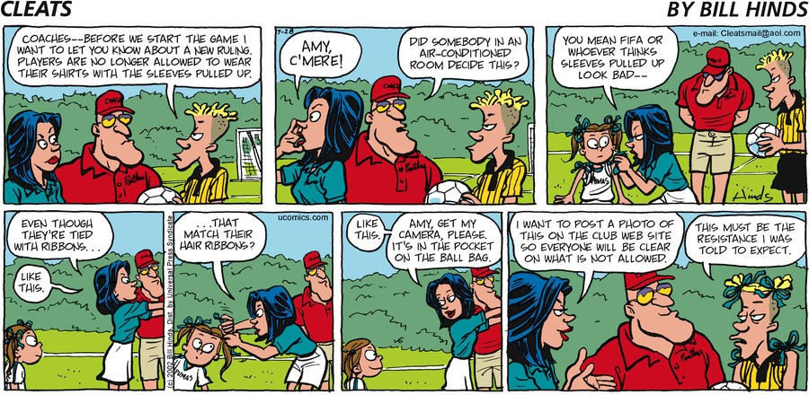 Cleats Comic Strip for July 28, 2002