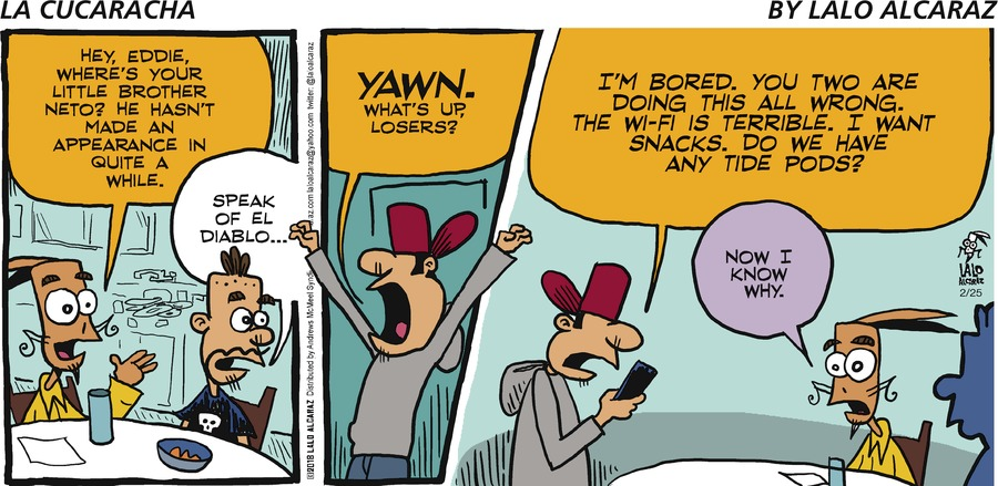 La Cucaracha for Feb 25, 2018 Comic Strip