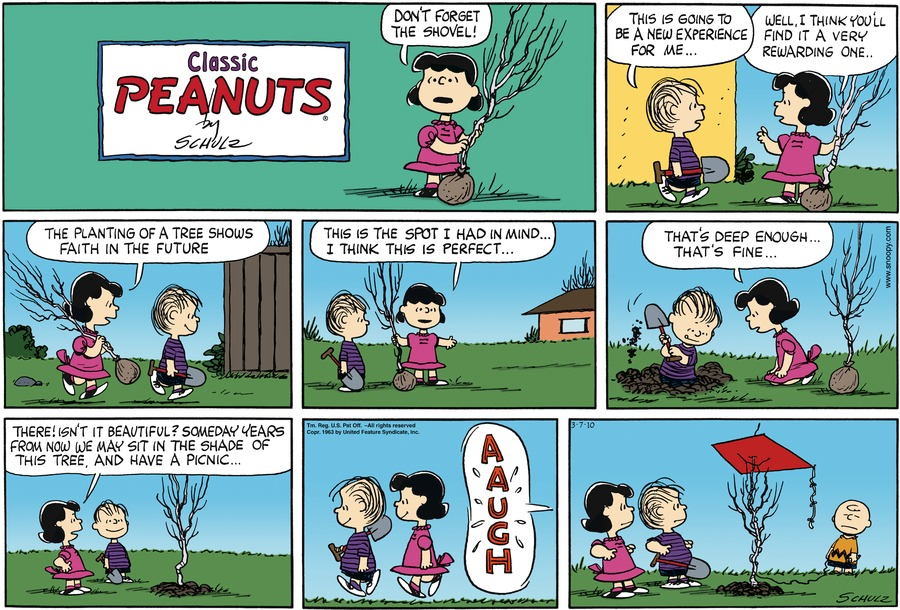 Peanuts Comic Strip for March 07, 2010