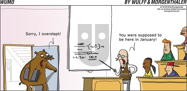 WuMo on Sunday February 4, 2018 Comic Strip