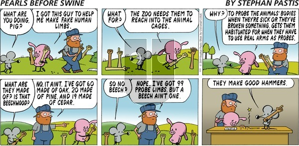 Pearls Before Swine on Sunday March 31, 2019 Comic Strip
