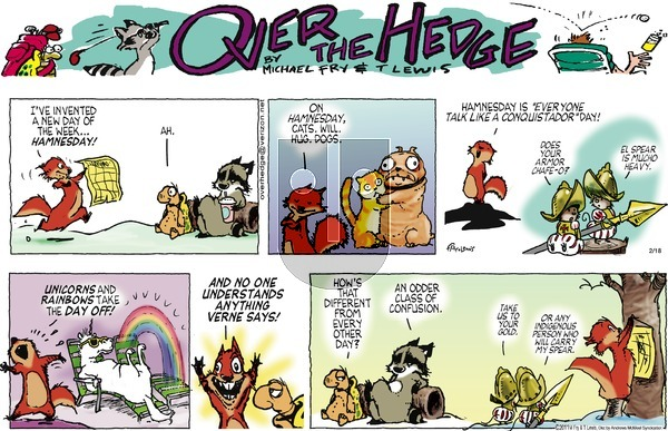 Over the Hedge on Sunday February 18, 2018 Comic Strip