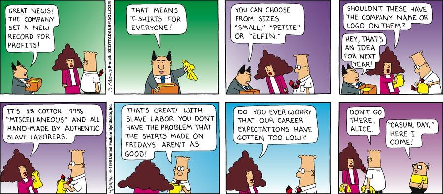 Dilbert Classics Comic Strip for March 29, 2020