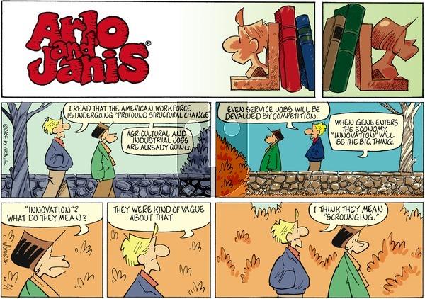 Arlo and Janis on Sunday February 1, 2004 Comic Strip