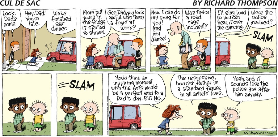 Cul de Sac Comic Strip for June 15, 2008