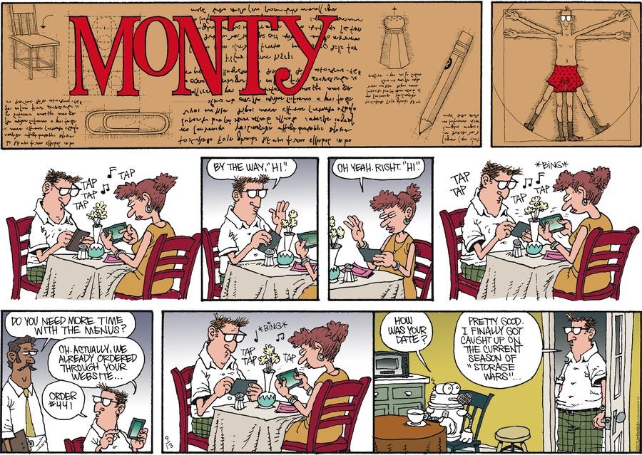 Monty for Sep 13, 2015 Comic Strip