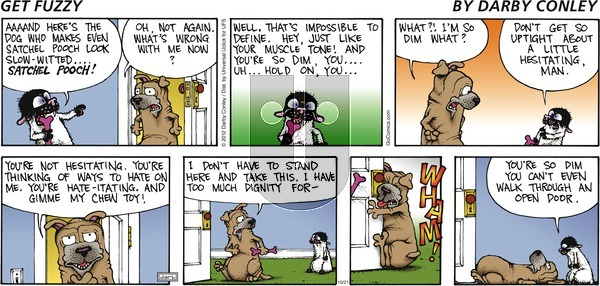 Get Fuzzy on Sunday October 21, 2012 Comic Strip