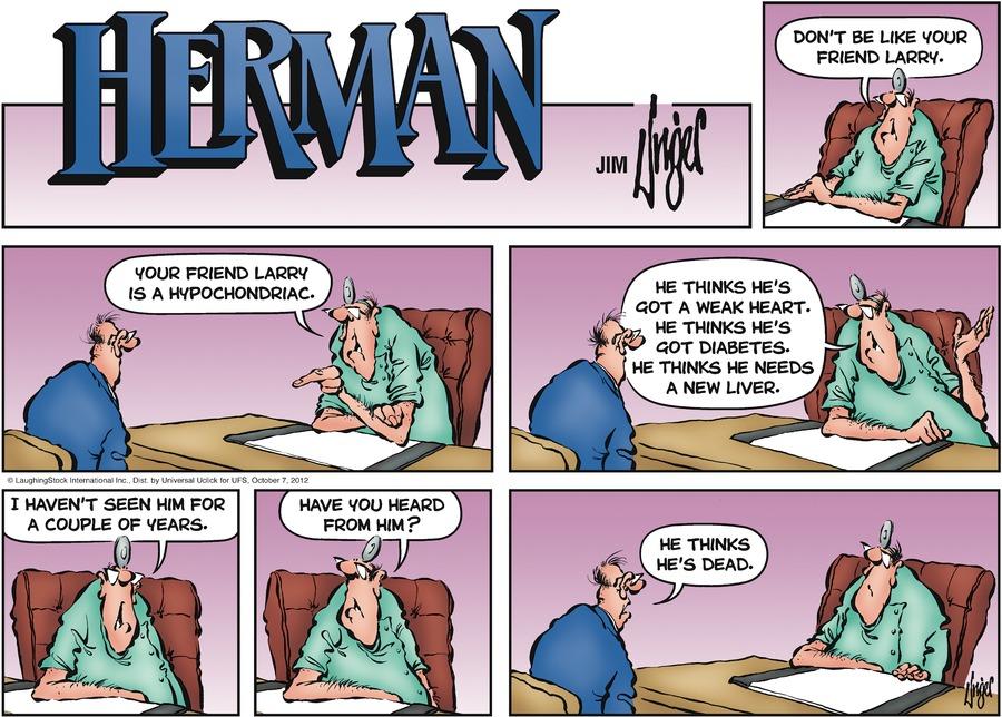 Herman for Oct 7, 2012 Comic Strip