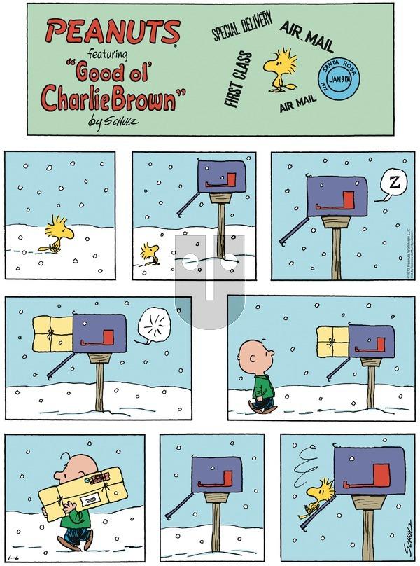 Peanuts - Sunday January 6, 2019 Comic Strip