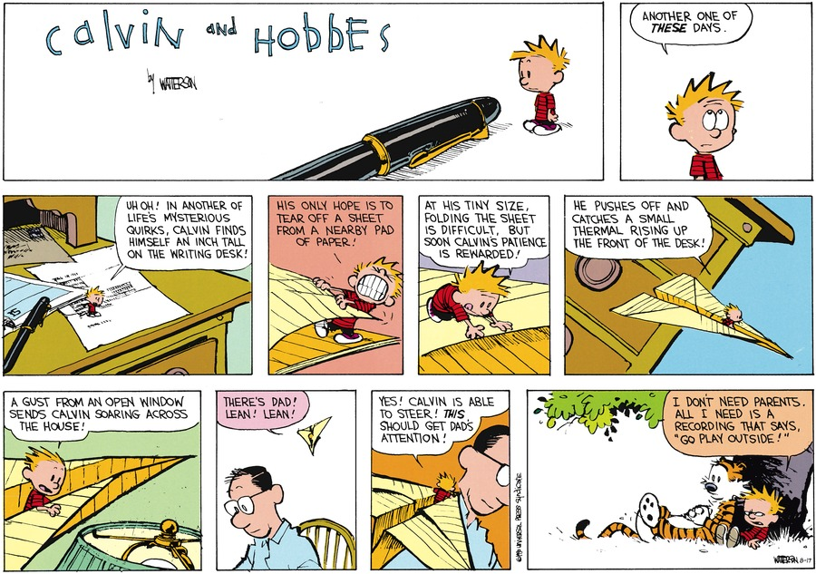Calvin and Hobbes Comic Strip for August 17, 2014