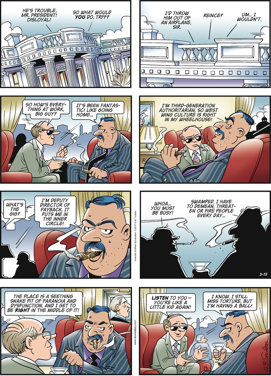Doonesbury Comic Strip for March 19, 2017