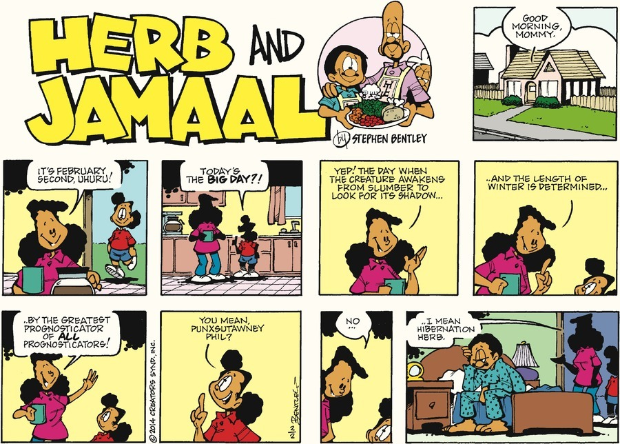 Today on Herb and Jamaal - Comics by Stephen Bentley