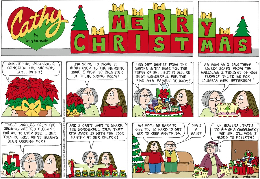 Cathy for December 23, 2001 Comic Strip