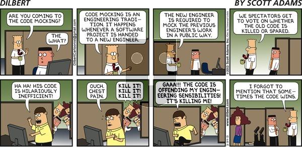 Dilbert on Sunday February 24, 2013 Comic Strip