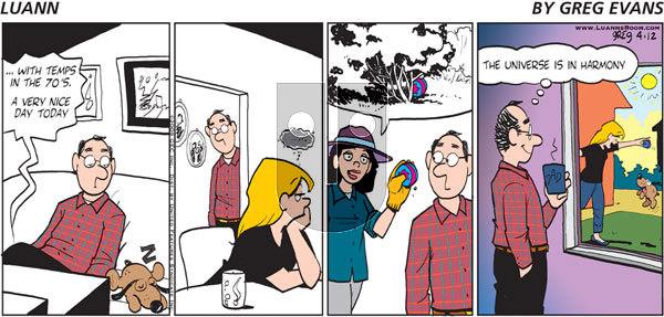 Luann on Sunday April 12, 2009 Comic Strip