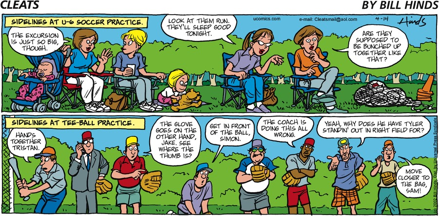 Cleats Comic Strip for April 14, 2002