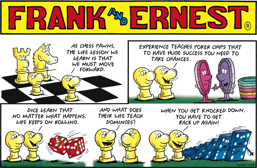 Frank and Ernest by Thaves on Sun, 24 Oct 2021