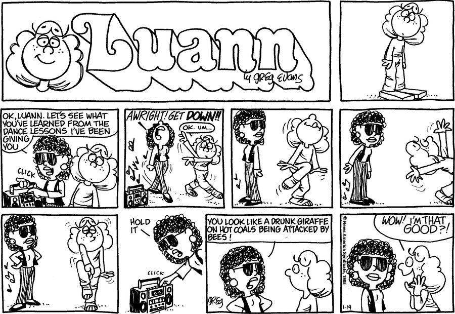 Luann Againn for Jan 19, 2014 Comic Strip