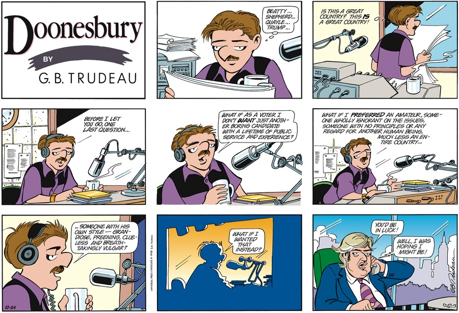 Doonesbury Comic Strip for October 24, 1999