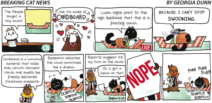 Breaking Cat News Comic Strip for September 23, 2018