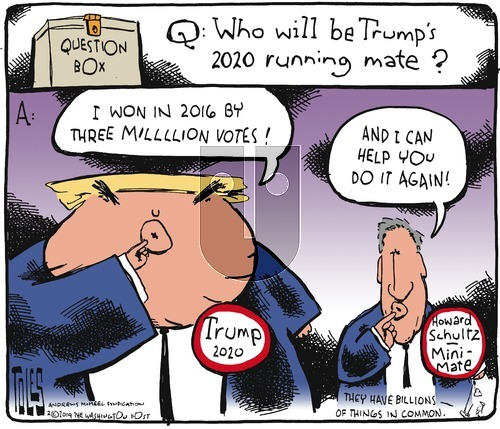 Tom Toles on Sunday February 3, 2019 Comic Strip