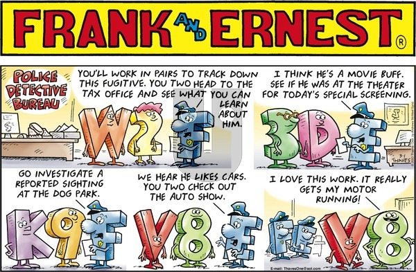 Frank and Ernest on Sunday March 1, 2020 Comic Strip