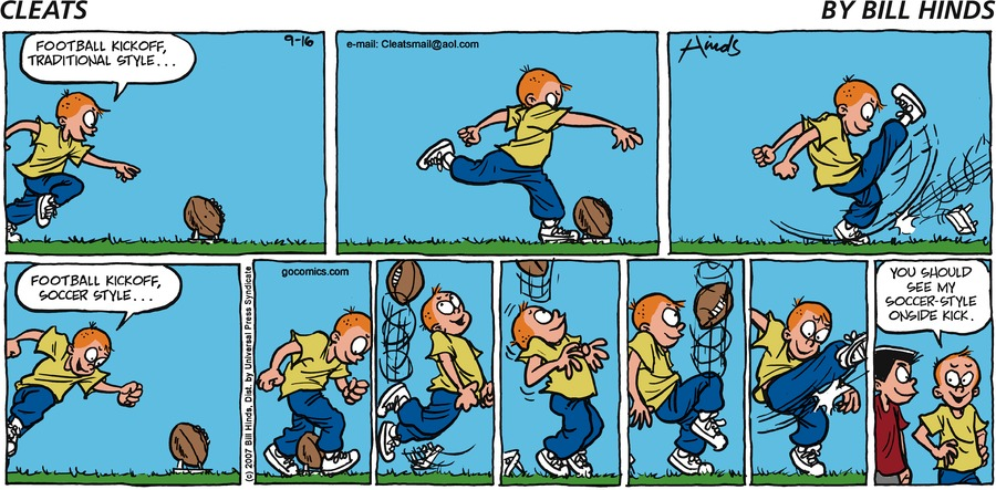 Cleats Comic Strip for September 16, 2007