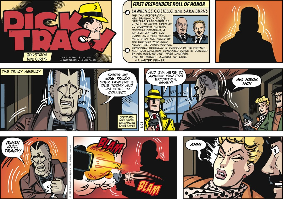 Dick Tracy Comic Strip for March 08, 2020