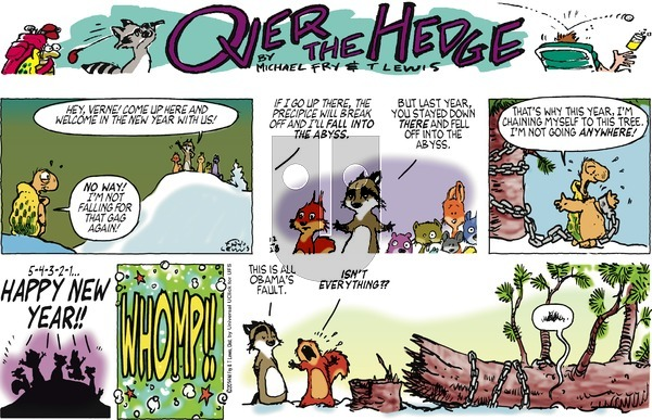 Over the Hedge on Sunday December 28, 2014 Comic Strip