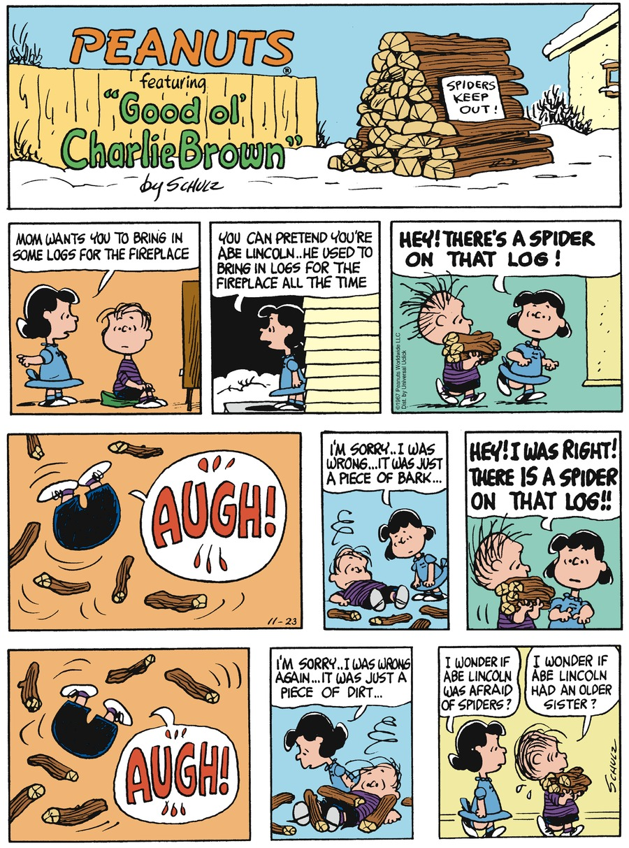 Peanuts Comic Strip for November 23, 2014