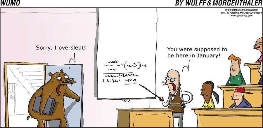 WuMo Comic Strip for February 04, 2018