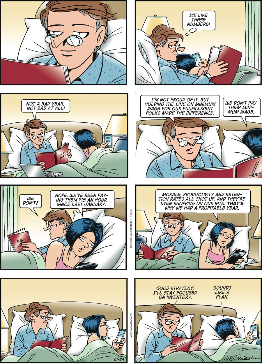 Doonesbury Comic Strip for January 24, 2016