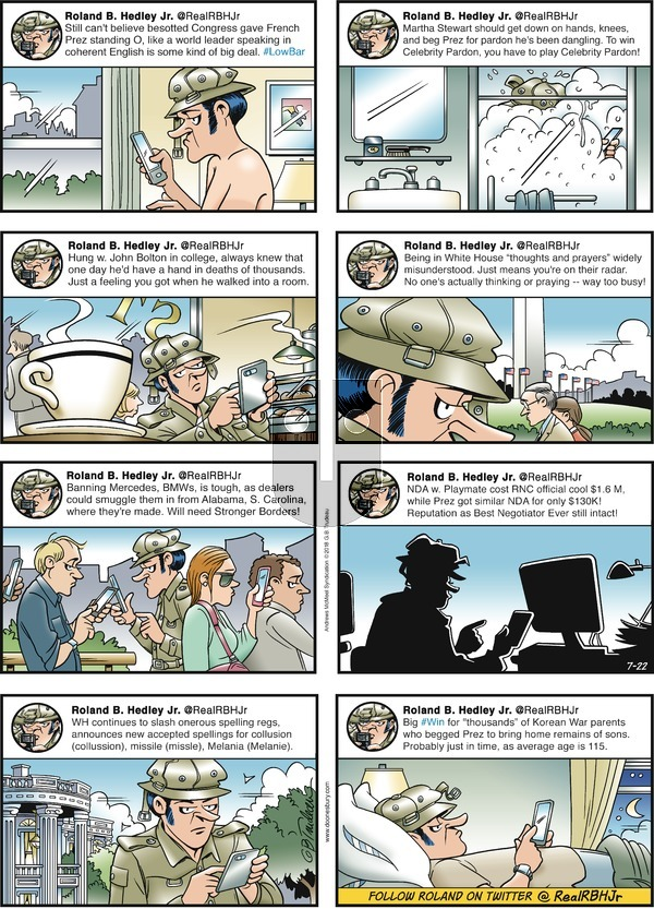 Doonesbury on Sunday July 22, 2018 Comic Strip
