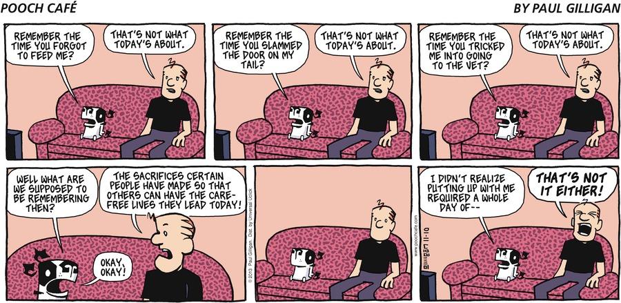 Pooch Cafe Comic Strip for November 10, 2013