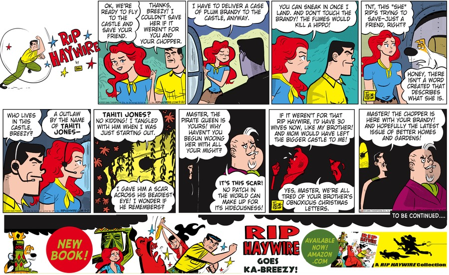 Rip Haywire Comic Strip for November 29, 2015
