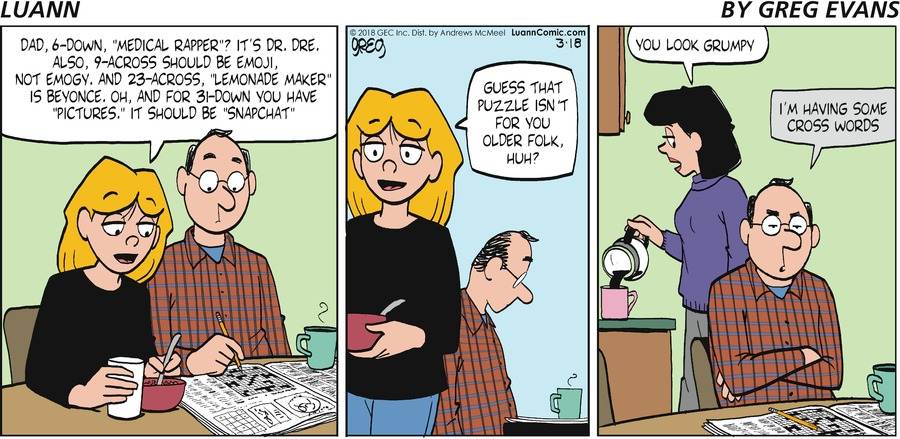 Luann Comic Strip for March 18, 2018