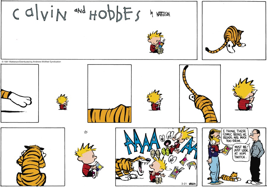 Calvin and Hobbes Comic Strip for March 21, 2021