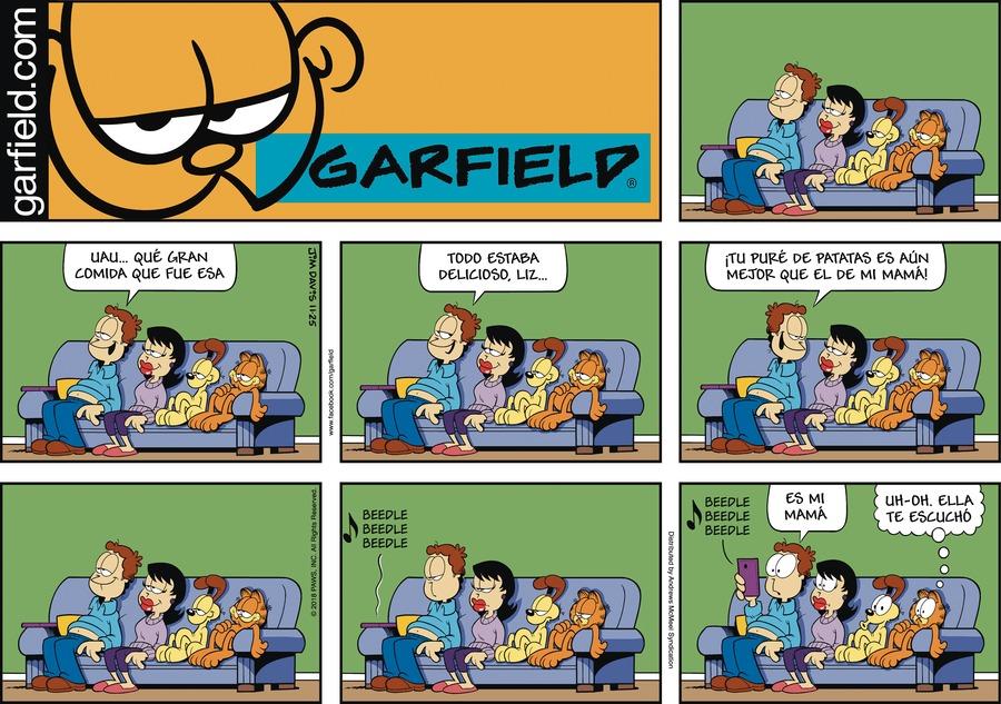 Garfield en Español by Jim Davis for November 25, 2018
