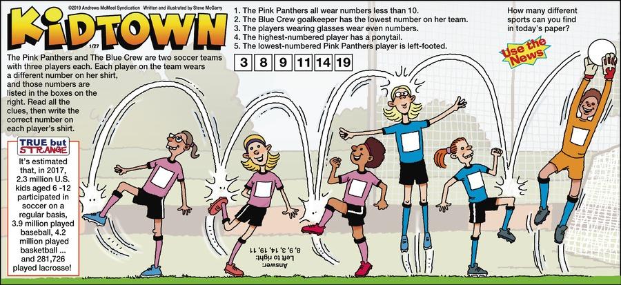 KidTown Comic Strip for January 27, 2019