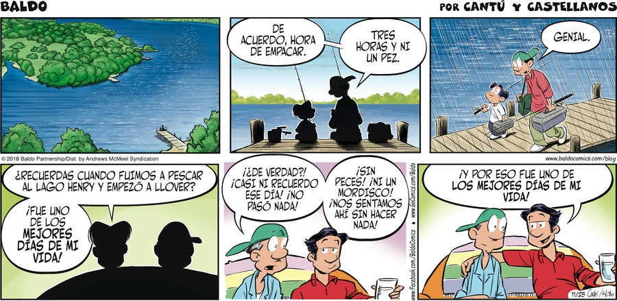 Baldo en Español by Hector D. Cantu and Carlos Castellanos for November 25, 2018
